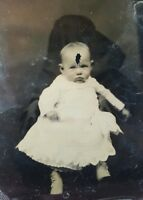ANTIQUE VINTAGE VICTORIAN HIDDEN MOTHER FASHION ODDITY NY ARTISTIC TINTYPE PHOTO