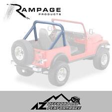 Rampage Roll Bar Pad & Cover Kit - Denim Black fits 78-91 Jeep Wrangler & CJ-7
