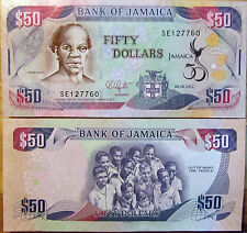 """BILLETE """"  JAMAICA""""   50 DOLARES  AÑO  2012 CONMEMORATIVO     UNC    PLANCHA"""