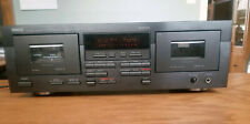 Yamaha KX-W392 Natural Sound Stereo Double Cassette Tape Deck - Works