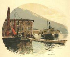 Malcesine GARDA-SEE, Lago di Garda, al porto, originale-farbholzstich circa 1890