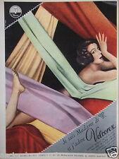 PUBLICITÉ 1958 VELCOREX MILLERAIE CÔTE DE CHEVAL MOUSSELINE SUÉDINE- ADVERTISING