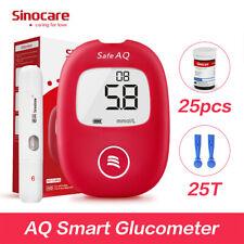 Medidor de glucosa en sangre sinocare Aq inteligente diabético Portátil Kit de prueba de monitor de azúcar