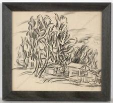 """Boris Deutsch (1892-1978) """"Landscape à la Cezanne"""", drawing, 1926"""