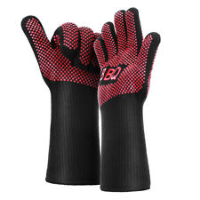 Heat Resistant Gloves BBQ Grilling Gloves Silicone Oven Mitts for Cooking Baking