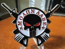 Punisher MOLON LABE BAMF Police NYPD Navy Seal Army Ranger Sniper Challenge Coin