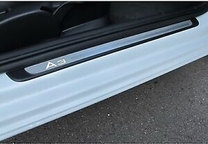 NEW GENUINE AUDI A3 8V 2DR ILLUMINATED RIGHT DOOR SILL KICK PLATE TRIM STRIP