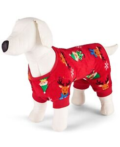 Family PJs Pet Elf Matching Pajama Red Medium
