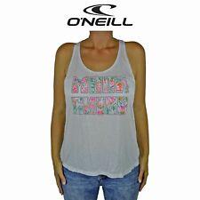 Womens O'Neill Moon Child Retro Light Surf Summer Sleeveless Top White Tank O1.3