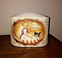 Vintage Ceramic 1978 Sears Roebuck Pioneer Woman Napkin Holder - HTF