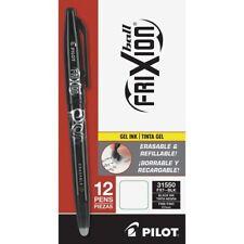 Pilot FriXion Erasable Gel Pens - 0.7 mm Pen Point Size - Black Gel-based Ink -