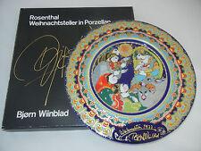 Rosenthal PIATTO DI NATALE 1977 mano firmata dall'artista! + OVP (la mia pos.4)