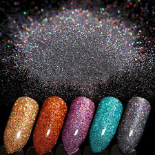 7g Holographic Laser Glitter Powder Dust Nail Art Shiny Holo Ultra-thin Silver