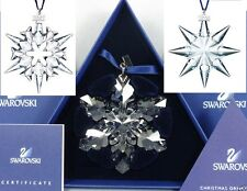 2007, 2008, 2009 Swarovski~Snowflake STAR Annual Christmas ORNAMENT~set of 3~NIB