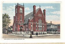 High Street M E Church Muncie In 1919 Methodist Episcopal Postcard 6103