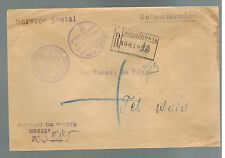 1936 Poland Official Registered Mail Stampless Cover to Tel Aviv Palestine RARE