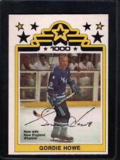 Gordie Howe Professional Sports (PSA) Single Hockey Cards