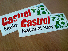 CASTROL NATIONAL RALLY 78 Motor Oil Classic Retro Car Stickers 180mm 2 off