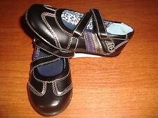 Girls Size 9 Children BABY Toddler BASS Stacy Black Shoes Strap Purple Stripe