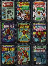 IRON MAN 2 MOVIE UD 2010 EMBOSSED SILVER FOIL COMIC COVERS (9) CARD CHASE SET NM