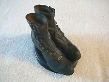 Lutz Brown Button Up Granny Vintage Style Boots, Wooden Platform, Nice Item