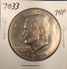 1974 P Eisenhower Dollar Gem BU original from US mint set.