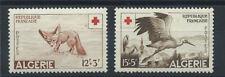 Algérie N° 343/44* (MH) 1957 - Croix rouge - Animaux