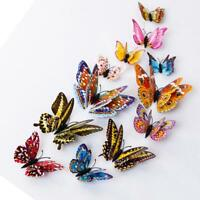 12pcs 3D Butterfly Design Decal Art Wall Stickers Room Magnetic Home Decor bh