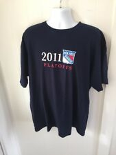 Preowned NY Rangers Blue Tshirt Size XL 2011 Playoffs I Am The Garden Faithful