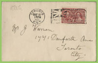 Canada 1937 KGVI Coronation First Day Cover, Toronto Flag Slogan