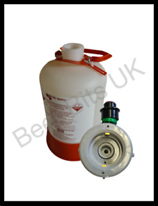 Sankey beer line cleaning bottle with S type head - 5 litre