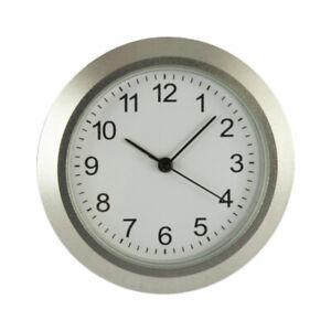 Uhrwerk Einsteckuhrwerk Ø 36 mm Einbauuhr Lünette silber matt Metall Corpus