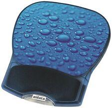 Aidata 73590 Tapis de Souris avec Repose Poignet Bleu