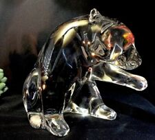 Baccarat Crystal Loet Bear Large Signed Heavy Excellent Condition