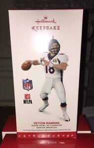 Hallmark Peyton Manning Denver Broncos Ornament 2016 Keepsake NFL RETIRED