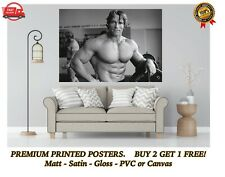 More details for arnold schwarzenegger muscles gym large poster art print gift a0 a1 a2 a3 maxi