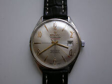 Rare ATLANTIC Worldmaster 21 jewels Luxury Mens Swiss Watch
