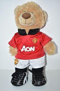 "Build A Bear Manchester United Man U Football Club Aon Kit Boots 16"" Plush VGC"