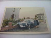 Vintage 1966 Foreign Photo Photograph Two Women VW Volkswagen Car