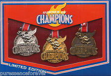 Disney Pin Box Set: WDW/DLR - Summer of Champions 2008: Medals (3 Pins) (LE 750)