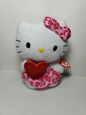 "TY Beanie Babies HELLO KITTY Heart Safari Print Sanrio 2012 About 6"" New TAG"