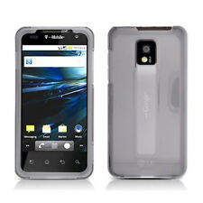 For LG T-Mobile G2X Protector Hard Case Snap on Phone Cover Clear Smoke