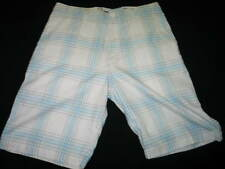 Quicksilver Casual Shorts Plaid blue and white size 32