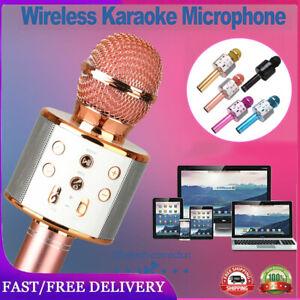 Wireless Bluetooth Karaoke Microphone Speaker Player Handheld KTV Mic Party Home
