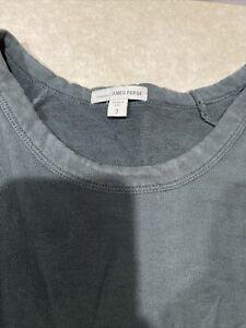 Standard James Perse Pullover Boatneck 3/4 Raglan Sleeve Sweatshirt Sz 2 (M)