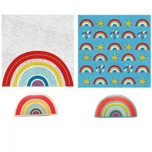 Rainbow Expandable Magic Flannel Travel Towel Kids Wash Cloth Stocking Filler