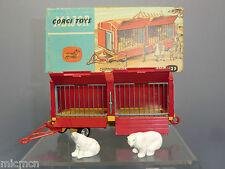 CORGI MAJOR Model No. 1123 CHIPPERFIELDS CIRCUS Cage Caravane VN En parfait état, dans sa boîte