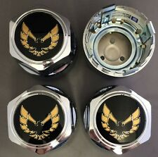 New PONTIAC FIREBIRD TRANS-AM Hub Wheel Center Cap Chrome/Gold SET of 4