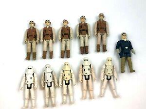 Star Wars Vintage Lot 11 Hoth Rebel Soldier Snowtrooper Han Solo 1980 Kenner