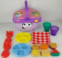 LeapFrog Shapes And Sharing Picnic Basket Purple Educational Electronic Learning
